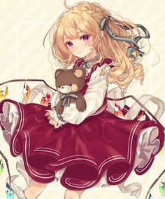Flandre Scarlet (1344x1612 1,585 kB.) Pretty Anime Girl, Beautiful Anime Girl, Kawaii Anime Girl, Anime Art Girl, Manga Girl, Anime Girls, Fille Anime Cool, Anime Child, Chica Anime Manga