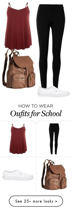"""""""School"""" by sydneyswiftt on Polyvore featuring H&M, Max Studio, Vans and fall2015"""