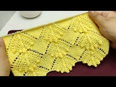 Lace Knitting Patterns, Knitting Stitches, Baby Knitting, Stitch Patterns, Knitting Videos, Crochet Diagram, Pattern Books, Crochet Yarn, Crochet Clothes