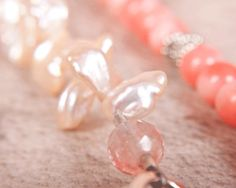 6-coral-fresh-water-pearls-hill-tribe-silver-sterling-silver - bright and light and cheerful for summer - http://www.earthwhorls.com/product/hill-tribe-silver-sterling-silver-fresh-water-pearls-coral/