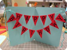 Happy Birthday Banner Card! - The Crafts Dept.