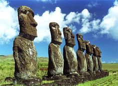 One of the most exotic places in the world to plan a trip to is Easter Island, Chile. Easter Island is a beautiful Polynesian Island with a rich history of annexation and settlers. If you are not fluent in the native tongue, Rapa Nui, you may want to brus Great Places, Places To See, Mysterious Places On Earth, Easter Island Statues, Polynesian Islands, Island Pictures, Exotic Places, Stonehenge, Places Around The World