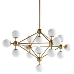 Check out this item at One Kings Lane! Orion 15-Light Ceiling Light, Gold