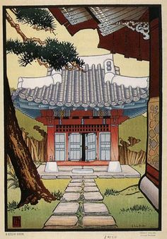 A Korean Shrine  by Lilian Miller, 1928