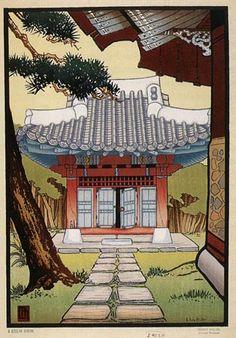 A Korean Shrine  by Lilian Miller, 1928