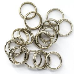 100X Flatten Stainless Steel Split Rings Fishing Extra Strong High Quality