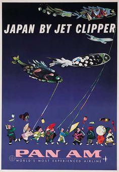 Aaron Fine / Pan Am - Japan by Jet Clipper / 1960s