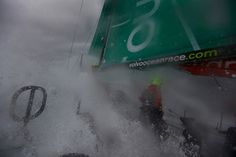 Leg 8 - Day 4 - The crew on the deck of Groupama 4 / Credits : Yann Riou