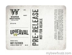 Widmer Brothers - Upheaval IPA (Pre-Release)