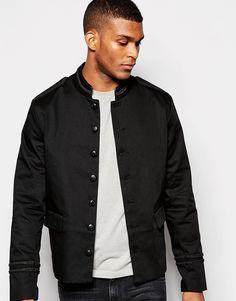 Image 1 ofASOS Band Jacket With Black Trim