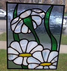Stained Glass Suncatcher PanelFresh as a Daisy by smashingglass, $50.00