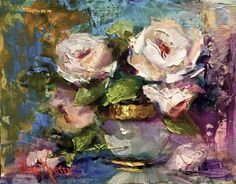 """Oil painting """"A Small Bouquet"""" 8 x 10 inches by Artist NORA KASTEN"""