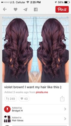 Burgundy Hair! This has been my favorite color so far ive done!!!