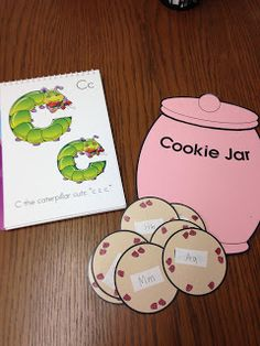 "Amazing Action Alphabet shares a fun review activity for preschoolers.    Using a cookie jar template or clip art, or using an actual cookie jar, view letters and sounds using the song ""Who stole the cookie from the cookie jar.""  #amazingactionalphabet #teachkids game 