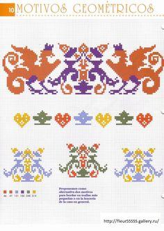 Motif pattern / chart for cross stitch, crochet, knitting, knotting, beading…