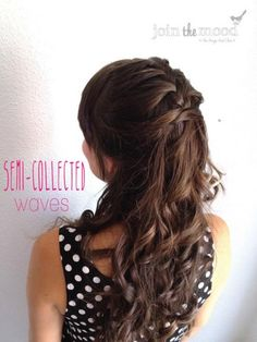 Complement your fun and flirty personality with this half-up, half-down hairstyle for homecoming. #Homecoming #Hairstyles