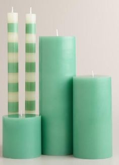 Striped taper candles!