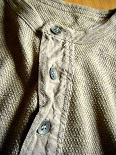 30s40sビンテージヘンリーネックシャツ メタルボ... - ヤフオク!