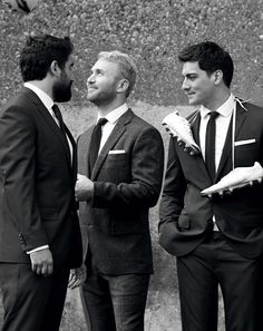 J.Crew men's Crosby suits in Italian wool and Herringbone windowpane English wool.