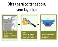 Como cortar #cebola sem #lágrimas. Saiba como fazer mais coisas em http://www.comofazer.org