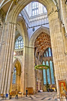 York Minster Interior - York, England.