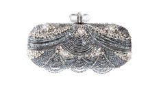 Marchesa Bugle Bead Embroidered Clutch