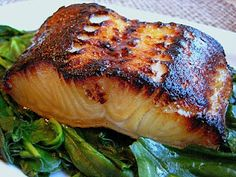 Make this Miso Glazed Sea Bass. It's the BEST RECIPE EVER and is so--- easy. I skip the herb garnishes and opt for the fresh, yet expensive, stuff from Whole Foods.