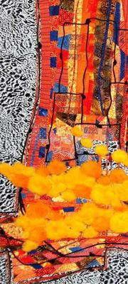 The Halls of Queen Elizabeth Park Community and Cultural Centre | Variegated Threads | Fibre Art | International | Canadian | Textile Art | World of Threads Festival | Contemporary Fiber Art Craft Textiles | Oakville Ontario Canada ****