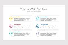Editable Checklist PowerPoint Template | Nulivo Market Lorem Ipsum, Templates, Marketing, Stencils, Vorlage, Models