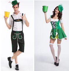 Oktoberfest New Men Women bartenders serving beer  Costume Masquerade party Wear