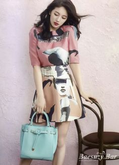 miss A Suzy Bean Pole Accessory Spring 2015 Look 3 High End Fashion, Pop Fashion, Fashion Outfits, Fashion Design, Fashion Ideas, Miss A Suzy, Bae Suzy, Korean Celebrities, Korean Actresses