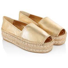 prada leather espadrille sandals