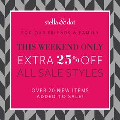 Fashion Friday: Best Black Friday Deals Online! Stella & Dot and 12 others! #BlackFriday #CyberMonday