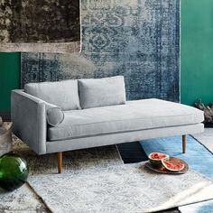 5. Monroe Mid-Century Chaise Lounger (both ways), multiple fabric options, $1299 + 15% off