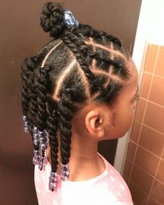 Little Girls Natural Hairstyles, Toddler Braided Hairstyles, Kids Curly Hairstyles, Little Girl Twist Hairstyles Black, Hairstyles Pictures, Little Girl Braids, Braids For Kids, Girls Braids, Afro
