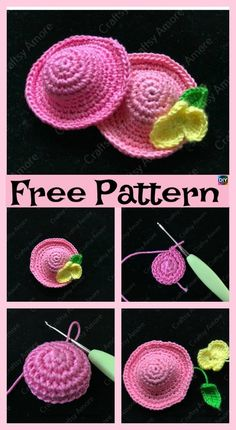 6 Cutest Crochet Mini Hat Free Patterns The project we will be showing you here is actually a Crochet Mini Hat . Bag Crochet, Crochet Gratis, Cute Crochet, Crochet Motif, Crochet Designs, Crochet Dolls, Crochet Flowers, Crochet Baby, Crochet Patterns