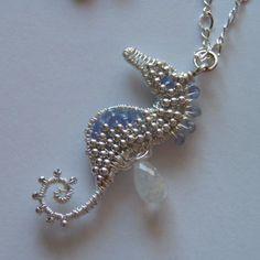 Tanzanite Seahorse Necklace | JewelryLessons.com