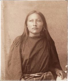 """Kiowa-Apache Woman"", [detail], ca. Photographed on the Kiowa-Comanche-Apache Reservation, a location which was in reality, a horrific prison camp in southwest Oklahoma"
