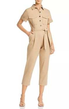 Re:Named Belted Cropped Boilersuit Women - Bloomingdale's Boiler Suit, Playsuit, Jumpsuit, Belt, Shirt Dress, Suits, Jackets, Shopping, Dresses