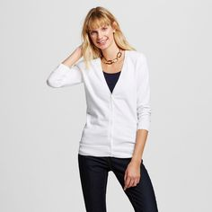 Women's Cardigans Fresh White M - Merona