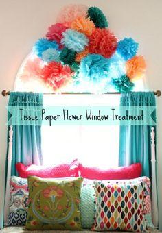 Tissue Paper Window Treatment @ DaisyMaeBelle