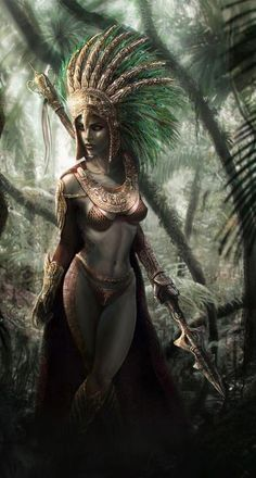 princess, queen, mayan tribal | magical witch, character concept art, female, woman, fantasy art