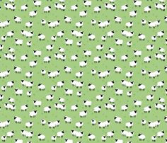 Ba Ram Ewe -- Field Ditzy fabric by hugandkiss on Spoonflower - custom fabric