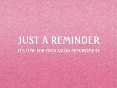 Simple Chic Pink Salon Appointment Reminder Postcards - $1.00 per card A simple and chic hot pink and white hair and beauty salon appointment reminder postcard with an elegant grain gradient minimalist background. Personalize this modern minimalism design by adding the name of the certified beautician or hair and beauty salon and cosmetology website.