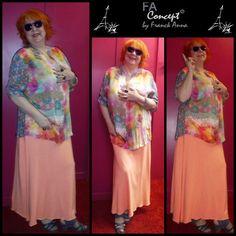 tunique soyeuse & colorée pour FRANCK ANNA chez PNY