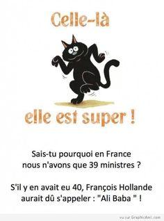 Sais-tu en France pourquoi nous n'avons que 39 ministres ? Ou un autre....