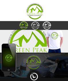 Logo for Green Peak Logo Branding, Logos, Green, Logo