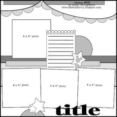 4 photo 1 page scrapbook layout DCWV Diary: August Stack-a-hoic Challenge Scrapbook Patterns, Scrapbook Layout Sketches, 12x12 Scrapbook, Scrapbook Templates, Disney Scrapbook, Card Sketches, Scrapbook Paper Crafts, Scrapbooking Layouts, Scrapbook Photos