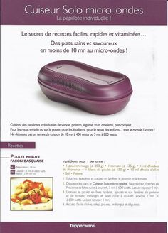 Make your favorite dishes … faster The individual papillote in the micro -… - Recipes Easy & Healthy Tupperware Breakfast Maker Recipe, Tupperware Recipes, Omelette, Tupperware Micro Onde, Tupperware Pressure Cooker, Easy Healthy Recipes, Easy Meals, Tupperware Consultant, Baby Cooking