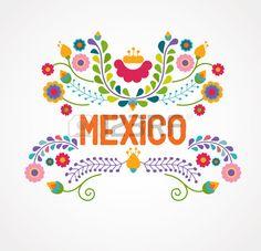 Mexique fleurs motif et des l ments Banque d'images